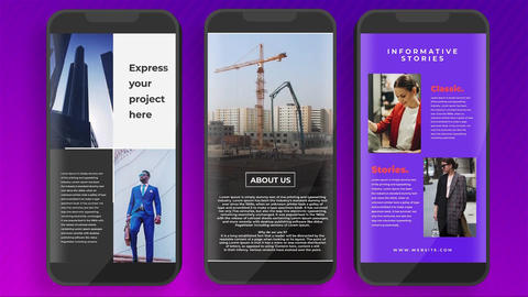 Informative Instagram Stories Apple Motion Template