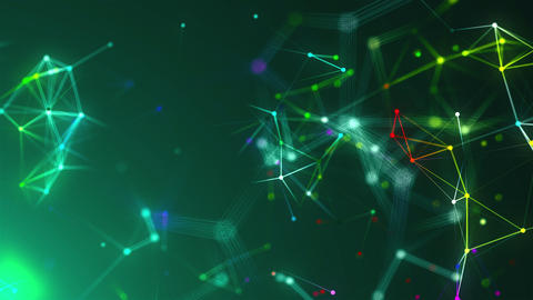 Abstract connection dots. Technology background. Network concept. 3d rendering Animation