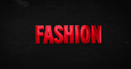 Fashion. Glossy red word animation Animation