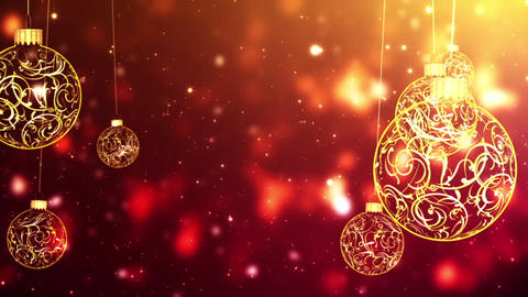 Christmas Ornaments (1) CG動画素材