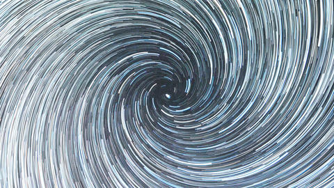 Stars draw a line in the sky. Spiral. Continuous lines. Russia Live Action