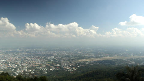 Cloud above Chiang Mai city, View from hill top Footage