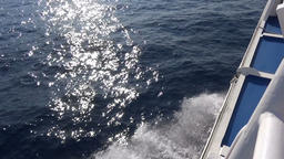 Greywater of a Fast Boat against the Sunbeams on the Sea Live Action