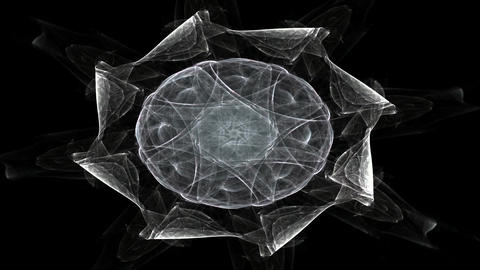 Abstract design made of sacred symbols signs geometry and designs on the subject of astrology Animation