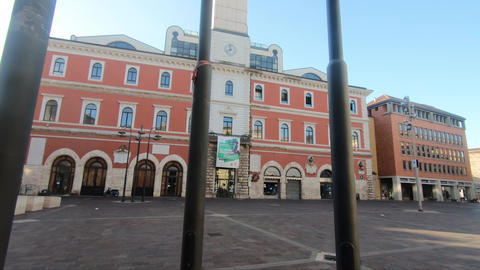 terni piazza europa and the municipal library building Live Action