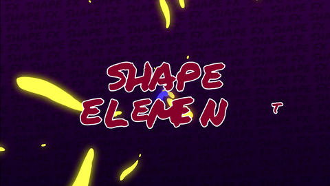 Final Cut Pro - Shape Elements Apple Motion Template