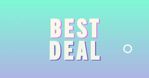 Best deal. Retro Text Animation Animation