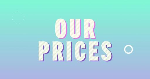 Our Prices. Retro Text Animation Animation