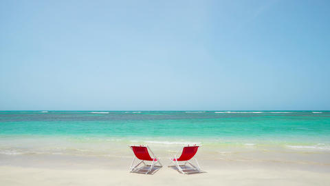 Summer vacation on the beach resort Cuba island. Summer sunny beach concept Live Action