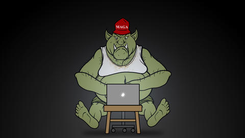Animated Right Wing Internet Troll Trolling Online Animation