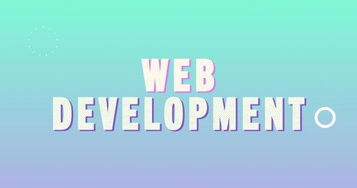 Web development. Retro Text Animation Animation