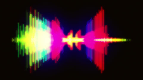 Shiny Rays Of Light Spectrum Equalizer Audio Background Animation