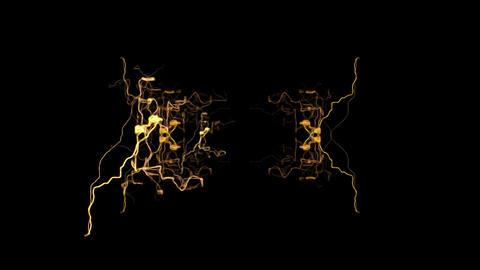 Digital Render Orange Electric Lights Pattern Video Animation