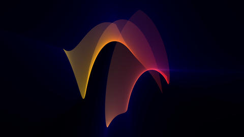 Futuristic video animation with particle object and light shimmer in motion, loop HD Animation