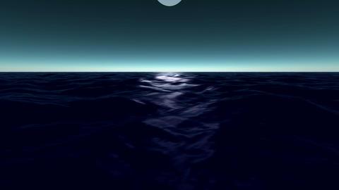 Wonderful ocean waves video animation, loop HD Animation