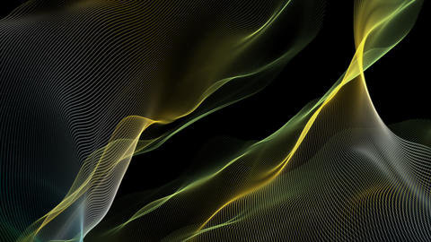 Fantastic video animation with wave object in motion, loop HD Animation