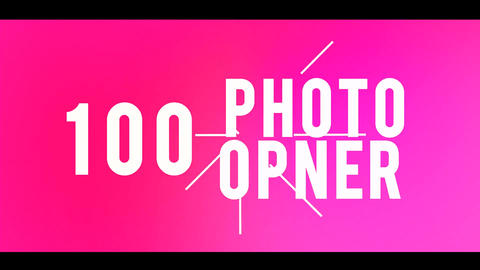 100 Photo Opener After Effects Template