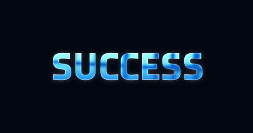Success. Electric lightning word. Text Animation Animation
