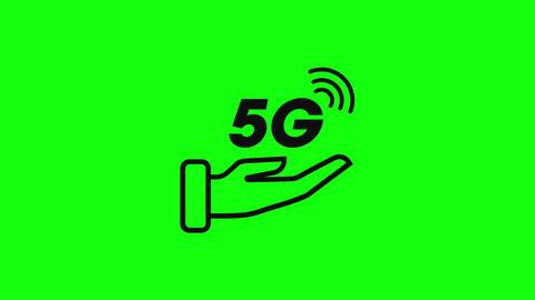 hand line 5g line speed signal line hand logo 5g logo signal speed flat logo hand speed 5g flat Animation