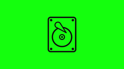 Transparent hard memory disk memory storage sign memory hard icon disk flat icon storage sign icon Animation