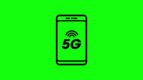 Transparent 5g phone signal cell phone cellular mobile phone 5g smart signal smart antenna smart 5g CG動画
