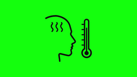temperature hot thermometer hot fever hot celsius thermometer celsius fever celsius temperature icon Animation