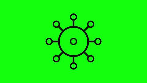 Flat virus bacteria coronavirus bacteria covid 19 bacteria virus icon coronavirus icon covid 19 icon 애니메이션