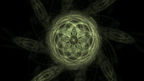 Abstract fractal patterns and shapes. Space geometry. Dynamic flowing forms with spirals. Mysterious Animation