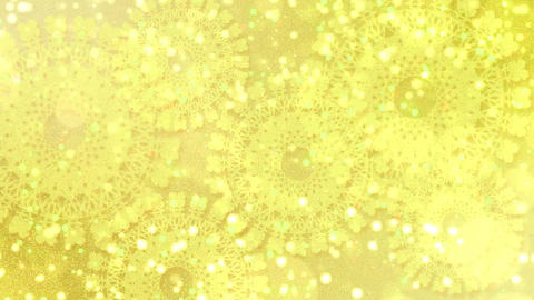 Crocheted lace, yellow Animation