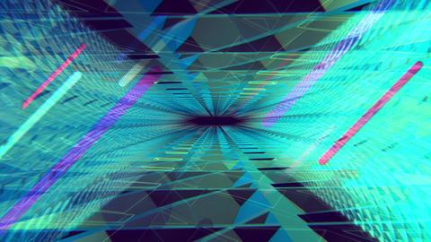 VJ CG 透明パネルトンネル空間 グリーン ループ CG動画