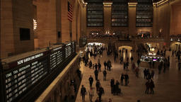 Busy people in a hurry timelapse Grand Central NYC New York City Footage