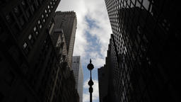 Timelapse of skyscrapers in NYC New York City Manhattan Footage