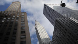 Skyscrapers in NYC New York City Manhattan timelapse Footage
