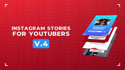 Instagram Stories For YouTubers v 4 Motion Graphics Template