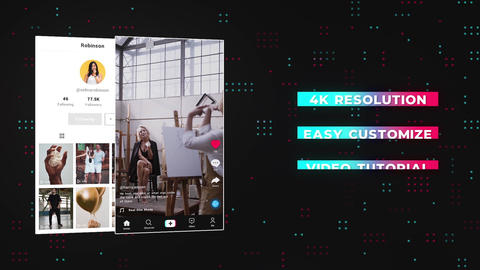 Tik Tok Interface Elements Motion Graphics Template