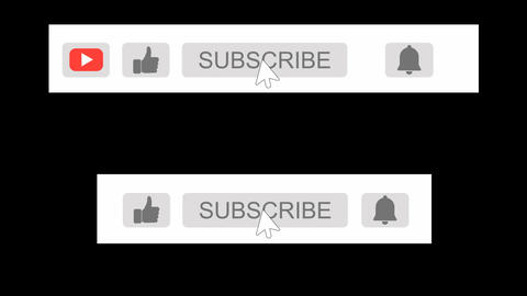 Youtube Subscribe Button Animation with H-264 Alpha Matte Channel Animation
