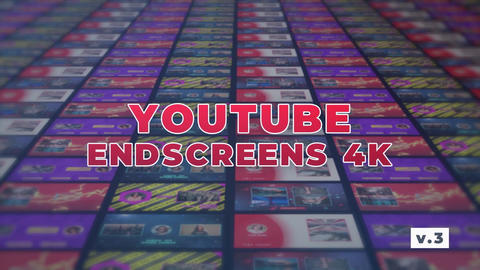 YouTube EndScreens 4K v 3 Motion Graphics Template