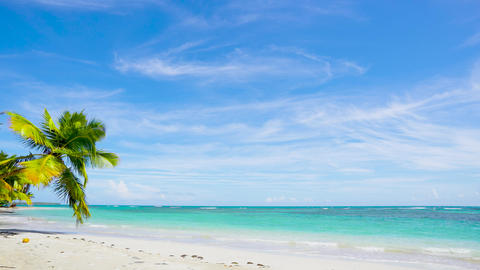 Mexico sea beach resort landscape. Summer concept vacation on the sea beach Acción en vivo