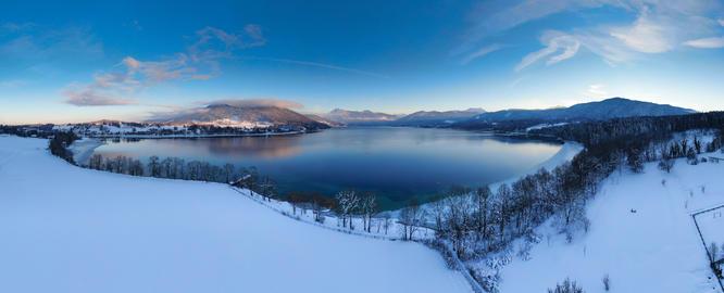 Tegernsee Lake in Winter, Bavaria, Germany Fotografía