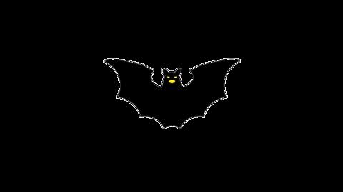 飛ぶ蝙蝠(顔あり)のアニメーション ループ CG動画
