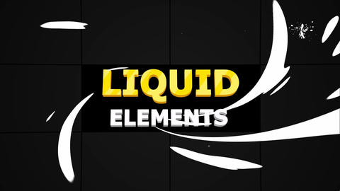 Abstract Liquid Elements Apple Motion Template