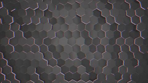 Motion dark black hex grid background, abstract background Animation