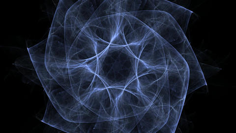 An abstract computer generated modern fractal design on white background. Abstract fractal color Animation