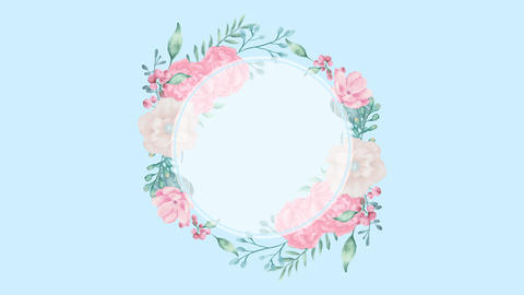 Botanical 0205 loop 097-192f flower circle 애니메이션