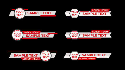 Lower Third Style - MOGRT Motion Graphics Template