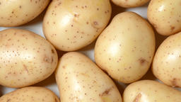 Potatoes rotating top view Live Action
