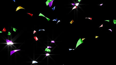 Confetti 2 Back XB L 4K CG動画素材