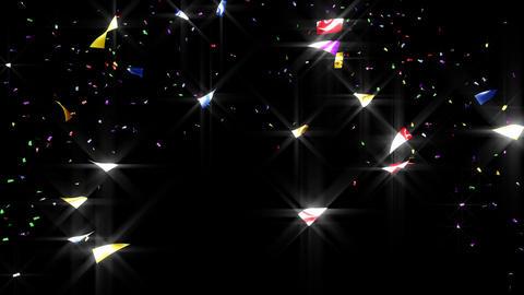 Confetti 2 Move 3LB 4K CG動画素材