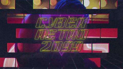 Cyber Retro 2099 Slideshow After Effects Template