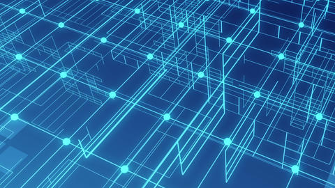 technology image space line grid background Animation